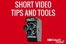 Short Video Tips & Social Video Tools / Tips and Tools for creating short video on social media - A Pinterest Board all about Short Video Tips and Tools by Socially Sorted - learn about tools, strategies and tips for creating engaging short video for social media. 1m