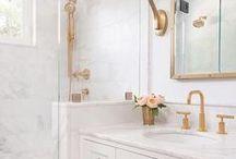 Bathroom / Bathroom design and decor inspiration. Interior design and decorating. Tiles, fixtures, homewares, colours, plants, mirrors.