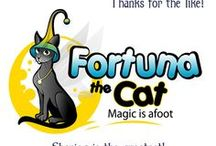 Fortuna the Cat by Ash Evans / Original character by renowned artist Ash Evans. He has tons of magical adventures. You can purchase prints at www.ashevans.com Magic is afoot!