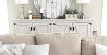Rustic Living Room / Living room and family room decor with a cozy cottage feel.