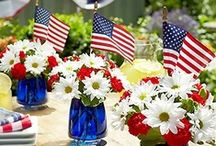 Happy 4th of July - Independence Day Celebrations / Ideas for get family events, fireworks, home decor, #red #white #blue #starsandstripes #USA #patriotic