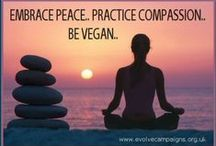 Vegans Love All Creatures / Vegan for the peace and happines of all living beings. / by Destiny Bones