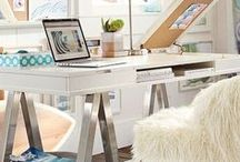Home Office Decor / I recently set up my very own home office.  Check out the ideas that made it happen.