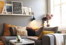 Small Living Room Decor / We just might have the world's smallest living room.  Fortunately, there are lots of ways to make small equal cozy and warm.