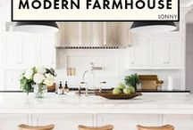 Modern Farmhouse Decor / So on trend right now!  I'll admit, I'm tempted to repaint the house white . . . maybe some farmhouse touches are all I need?  Lots of ideas here.