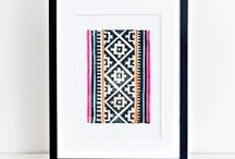Block/Lino Printing / This old school craft is fresh again with bright colors and modern design.