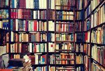 Interior Inspiration: Bookshelves / a fully stocked bar is nice, but a fully stocked bookshelf is EVERYTHING / by tamara rasberry