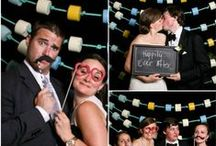 Shoot Booth. / Photo Booth with props. Have guests have a memory of your wedding!