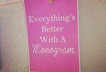 Monogrammed. / by Meg Carnett