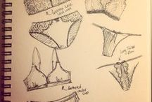 Lingerie drawings / Drawings of lingerie and lingerie sketches