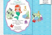Mermaid Party Ideas / I know you guys will love this board :) It's my Mermaid Birthday Party Board- I'm happy to invite you to pin as well. Send an invite to my FB page https://www.facebook.com/PartyPrintables and I'll add you Mermaid Birthday Party Ideas: Mermaid cakes, party hats, snacks and more!!