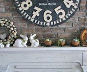 Mantel Makeover / Painted mantles and decor.
