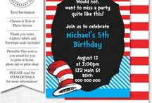 Dr Seuss Party Ideas / I know you guys love this board :) It's my Dr Seuss Birthday Party Board- I'm happy to invite you to pin as well. Send an invite to my FB page https://www.facebook.com/PartyPrintables and I'll add you Dr Seuss Birthday Party Ideas: Dr Seuss cakes, party hats, snacks and more!!