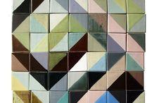 mosaic + glass + tile