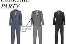 """Men's Holiday Office Party Attire / Advice on what to wear that will help you stand out at your holiday office party!...In a good way, not in a, """"I drank one too many glasses of holiday cheer!"""" way."""