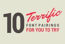 Fonts / All things font worthy are found on this font board. I love beautiful fonts!