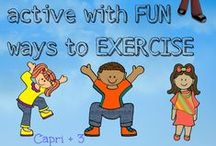 Keep Kids Active with Fun Ways to Exercise / Kids have so much energy!  Here are some ways to keep kids active with fun and healthy ways to exercise.