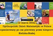 """Dzień Matematyki / Święto zostało zapoczątkowane przez organizację """"World Education Games"""" w 2007 r. Od tego czasu było organizowane co roku w każdą pierwszą środę marca.  W Polsce pierwsze ogólnopolskie obchody naszego Dnia Matematyki odbyły się 12 marca 2014 roku z inicjatywy Stowarzyszenia Doskonalenia i Rozwoju 4improve oraz programu do nauki matematyki www.e-math.pl"""