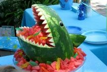 Shark Attack Party! / Totally JAWSOME! Take a big bite out of boring parties with this super cute party idea!  In the Sarasota and Bradenton areas - call Party Jumpers (941) 343-0370 - We Bring the Party! Bouncers Waterslides Dunk Tanks Carnival Games Obstacle Courses and More!
