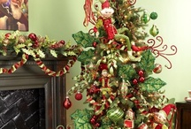 RAZ Decorated Christmas Trees / Get Christmas tree decoration inspiration from our board featuring designer Christmas Trees from the RAZ Imports Collection. RAZ Imports ornaments sprays and garlands available at shelleybhomeandholiday.com
