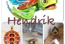 Mijn robot schildpad Hendrik.