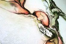 Abstrakt maleri / Abstract Art by Danish Artist Rikke Darling / Abstrakt Maleri  / Abstract Art by the Danish artist Rikke Darling - www.rikkedarling.dk Abstract paintings in gallery in Copenhagen Denmark.