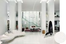 Cool & Contemporary / Monochromatic stone and sleek glass are highlights of this modern trend / by Architectural Systems Inc