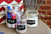 Red, White, and Blue Holiday Inspiration / Food, decorations, crafts & more for Memorial Day, Labor Day, or 4th of July