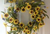 Summer Door Wreaths