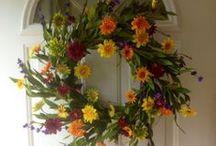 Artificial Wreaths / Beautiful artificial wreaths for doors.