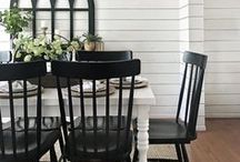| farmhouse DINING ROOM | / All things for your dining room, namely farmhouse tables, dining room chairs, benches, rugs and chandeliers. Sideboards, buffets, hutches and, of course, some place setting inspiration all sneak into this board, as well.