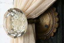 | farmhouse DOOR | / Beautiful, well crafted doors are like elegant party invitations, they foreshadow something wonderful in the near future. They cause the viewer to want what lies beyond and hint of the promise something even more grand. Here is a collection of my favorite doors, door bells and vintage door knobs, which I like to call the house jewelry. Consider yourself invited.