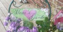 My Garden / I am an amateur gardener and love to incorporate my garden painted art into my garden.... Garden Art