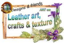 Leather art, crafts & texture / This community board is only for Leather arts and crafts, and any texture designs. I have included my own photos of leather products I made between 1974 - 1996 and add other leather artwork I admire. Lately I have used the photos of my leather work and created a leather & suede 'LOOK' on the products sold through P.O.D shops. Any (leather or other textured look) designs are welcome to share.