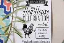 Hen House Contests / Enter the Hen House Linens my Celebration Contest on Pinterest: Create a Board titled My Hen House Celebration 1) Pin a selection of Hen House Linens & Accessories from our Website 2) Add Pins that set your scene 3) Tag EVERYTHING #myhenhousecelebration *PRIZES WILL BE AWARDED MONTHLY based on our favorite boards at the time. Winners will be announced on THIS BOARD! Happy Pinning!