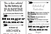 hunger games party / hunger games and mockingjay party ideas, crafts and decorations