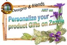 Personalize your product gifts on Zazzle / To give a personal gift why not add your own message, or add a photo to our designs. (like inscribing a bag or rug sack with the name of the owner.) Personalized cards for any occasion or create a memorable gift for friends, parents or grandparents that includes their children's photos printed within a design on a product. You can also change background colors and before you know it, you have made the design your own. Congratulations!