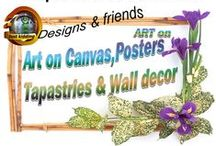 Art on Canvas, Poster prints - Tapestries & Wall decor / These canvas & poster products or tapestries are reproductions from original art or from original graphic & ditigal art from other artists.Shopping for gifts - visit: https://justkidding8gifts.wordpress.com/
