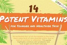 Fix Your Skin / 14 potent vitamins for younger and healthier skin #fixyouskin #skincare #greatskin #flawlessskin #skin #beauty #glowingskin #healthyskin #skincaretips #skin