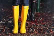 Rubber Wellies / This cruel cruel weather has inspired me to do a post on rainy weather shoes, i.e. the infamous rubber boots. So here's a few examples on how to wear and accessorize rubber boots and also a few tips on what to buy. If you wish to see the full post, with prices and shops from where to buy please check out this link: http://fashioninspirationdaily.blogspot.ro/2013/10/these-rubber-boots-are-made-for-walking.html
