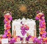 """Exquisite Wed Mag 2013 Tabletop / Monarch Weddings table top """"Rhapsody in Bloom"""" featured in the Fall 2013 Issue of Exquisite Wedding Magazine.  Florals: Splendid Sentiments @Splendidflowers Rentals: Concepts Event Design"""