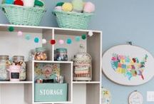 Inspiration | Craft Room / Inspiration for creating the best craft room.