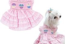 Dog Birthday Dresses, Tanks and Accessories / It's their Special Day!! Celebrate!! Announce it with a birthday tank or tee or birthday dress or bandana. Be sure to call all the neighborhood dogs over for a party!!  PupRwear has party tips, and party supplies, birthday cakes and treats for the big day.  For the Rescues, just choose a date and celebrate it!  Dogs love the attention and it gives them a chance to socialize (and you can socialize too!).