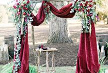 Red Rustic Chic Wedding
