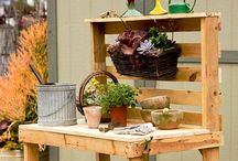 Pallet Projects / Stuff I can make with old wood pallets.  / by Bethany Anderson