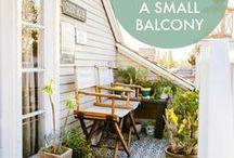 Ideen für (sehr) kleine Balkone / Balkone sind das Wohnzimmer des Sommers. Dass auch kleine Balkone toll sein können, beweist dieses Board mit ganz viel Inspiration & Charme!