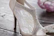 Wedding Shoes We Love / Stunning wedding shoes of all kinds: pumps, flats, stilettos, mary janes, wedges,  sandals . . . with sparkles, bows, rhinestones, pearls, all the trimmings!  Each are beautiful in their own way.