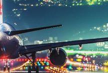 Über den Wolken... ✈ / Alles rund ums Fliegen – die Welt von oben, Flughäfen und Flugzeuge.