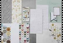 "Aprilkit 2012 ""wunderbar"" / - My Mind's Eye - Alphabet Sticker American Crafts - Journaling Cards - Buttons - Klartext-Stempelset -"