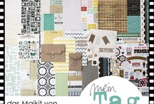 "Maikit 2012 ""mein Tag"" / - Echo Park - American Crafts - My Mind's Eye - Maya Road Kraft Envelopes - Sticker - Brads - Bitty Bags - Printouts - Stoff - Manila-Tags - Die-Cuts - genähte Banner-Girlande -"